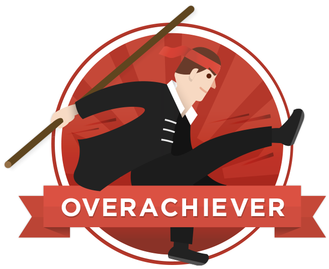 Badge overachiever selected