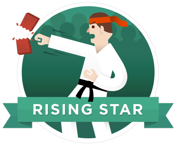 Badge rising star