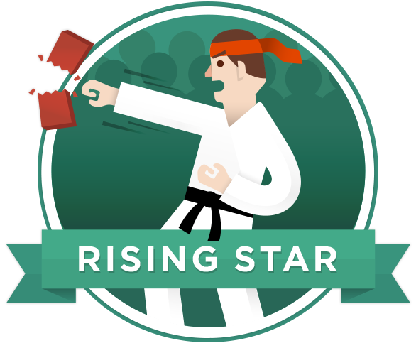 Badge rising star selected